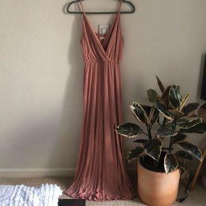 Dusty Rose Lush Maxi Dress